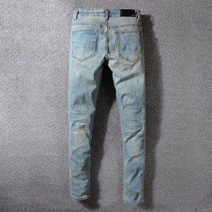New Mens 2020 luxury designer jeans pour hommes Slim Fit Motorcycle Biker Denim For Men Fashion Designer Hip Hop mens designer swim shorts