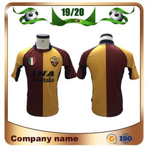 Camisetas de fútbol de Roma de edición retro 2001/2002 01/02 Inicio # 10 TOTTI # 20 BATISTUTA # 9 MONTELLA Camiseta de fútbol Uniformes de fútbol personalizados