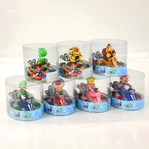Super Mario Bros Racing Model Kart Goomba Troopa Bowser Pull Back Car Cartoon Doll Figures with Box HHA1059