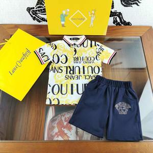 tout-petits vêtements pour l'été robe bébé garçon mis en chemise de couleur blanche + pantalon deux pièces petits garçons design à bas prix vêtements 100-140 Livraison gratuite
