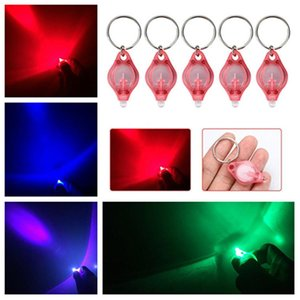 39*22*7MM LED lamp Keychain Detector Led Portable Light Keychain Car Key Pendant Accessories 4 styles Light Party Favor T2C5132
