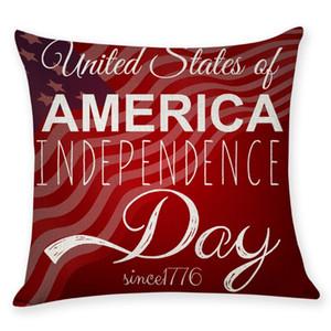 Federe American Flag decorativi federa Stelle banda Tira cuscini copridivano Nap Pillowslip Home Decor 9 disegni WZW-YW3782