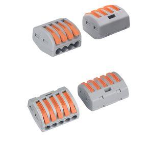 500PCS 전기 와이어 커넥터 SPL-2 3 개 유형 배선 케이블 엘 와이어 터미네이터 터미널 블록 (413) 414 (415) (418) 222-412 플러그인