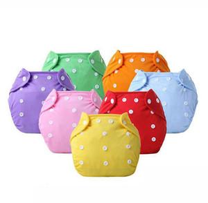 Réutilisables en tissu lavable couches pour bébés Pantalon formation réglable Couches Lavables bébé Eco-friendly 7 couleurs KKA7853 Diapers