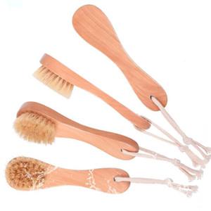 Wildschweinborsten-Gesichtsbürsten Rasierpinsel Holzgriff-Gesichtsreinigungsbürste Hautpflege-Reinigungswerkzeuge R0341