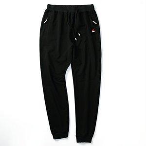 New Men's Sportwear Pants Spring Autumn Designer Solid Slim Cotton Ankle Length Sports Pants Men Loose Clothing M-4XL AY860 Y200701