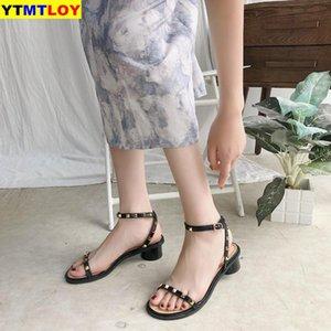 Bege Heeled Sandals 2020 sapatos de conforto de verão para os saltos de Mulheres Mulheres All-Fósforo preto Gladiator Sandals Mulheres