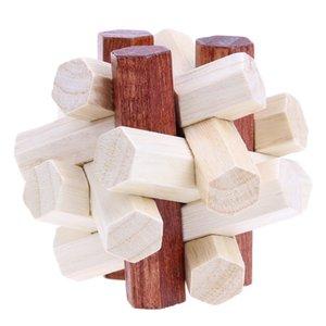Kongming Luban bloqueio chinês Brinquedo Tradicional Intelectual 3D Toy Presente de madeira Puzzles criativa Brain Teaser Unlock for Kids Adulto