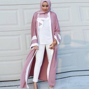 2019 Abaya Dubai long Kimono Cardigan Robe musulmane turque islamique Vêtements Qatar Uae Kaftan abayas pour les femmes avec Hijab elbise