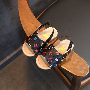 Kızlar Tasarımcı Prenses Ayakkabı Sandalet Patlama Boys Bebek Kaymaz Yumuşak Bebek Ayakkabı Çocuk Plaj Ekose Baskı Ayakkabı 2020 Yeni