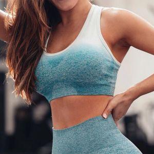Top des femmes sans couture manches femme T-shirt Yoga Top Vêtements Fitness Workout GymShirt Femme Vêtements de sport Respirant