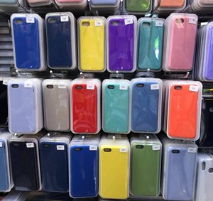 Original Official Liquid Solid Silicone Gel Rubber Shockproof Phone Case Cover For iPhone 11 XS Max Xr iphone X 6S 6 8 7Plus For Apple cases