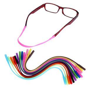 2adet Ayarlanabilir Silikon Gözlük Güneş gözlüğü zinciri Gözlükler sapanlar Spor Bant Kordon Tutucu Elastik Kayma Önleyici Dize Halatlar Sıcak
