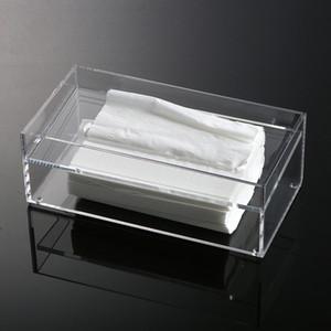 Bathroom Rectangle Clear Acrylic Tissue Box, Tissue Holder, Dispenser For Sheet Napkin Or Facial Paper