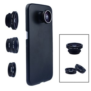 Phone Camera Lens 180 Fish eye Wide Macro With Case Cover For Samsung Galaxy s8 plus s6 edge S5 note 3 in 1 mini es kit