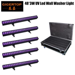 Gigertop Nouveau Conçu DMX moulage en aluminium die boîtier 48 x UV 3W IP20 Wall Washer Light Bar