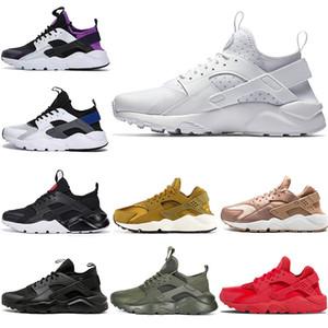 nike air huarache 1 4 üçlü s beyaz Siyah erkek womens Spor Ayakkabı Klasik kırmızı gri Huaraches Açık Koşucu spor Eğitmenler Sneakers B ...