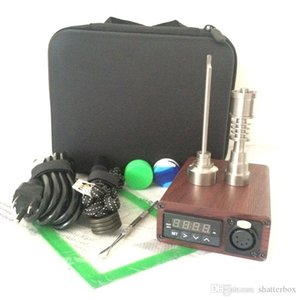 quartz Enail kit electric dab nail portable dabber rig Titanium E Nail dabbing wax vaporizer PID digital box for glass water bong