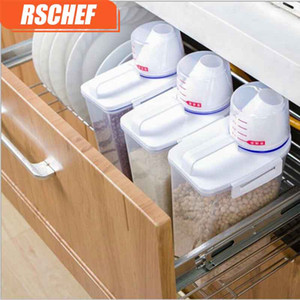 RSCHEF 1 pcs En Plastique Cuisine Céréales Conteneur De Stockage De Grains Bean Bin Rizière De Stockage Boîte