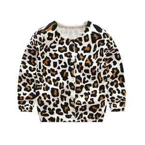 Liligirl Baby Leopard Трикотажная футболка с длинным рукавом Свитер для детской одежды Мальчики Девочки Кардиган Свитера Хлопковое пальто Y190518
