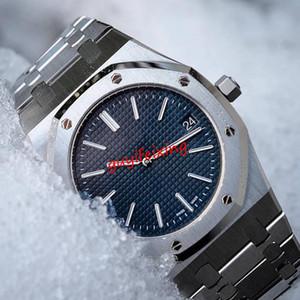 Лучшая версия Royal oak 15202 Jumbo 15400 15407 MK1 синий циферблат ультратонкий 8.5 мм Miyota 9015 механизм с автоподзаводом водонепроницаемый роскошные мужские часы