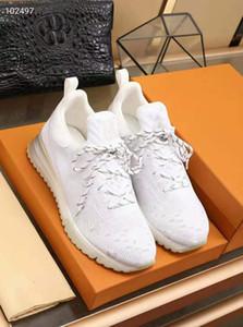 2020 Sapatos novos VNR mulheres casuais homens tênis branco verde preto de malha Lace-up Trainers High Top com caixa