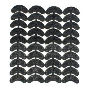 40PCS 20-парного Резина каблука Хранители Toe Планшеты Отводы DIY Ремонт обуви колодки Размер: 56 * 24 * 3.1MM
