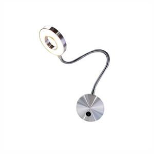 5W LED Mangueiras leitura de cabeceira Lâmpada de parede flexível Home Hotel Wall Light Livro Moda Modern luzes interiores de alumínio Lâmpadas LED