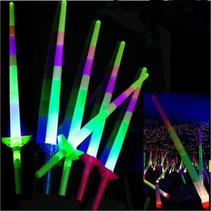 Teleskopik Glow Sticks Flaş Işık Up Oyuncak Floresan Kılıç Konser Faaliyetleri Sahne Noel Karnaval Işık Sopa Oyuncaklar