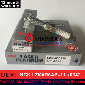 Bujía de encendido LZKAR6AP-11 6643 de NGK Teile Laser Platinum original para 2006-2017 Nnissan Micra Frontier Sentra NV200 Cube Versa Altima