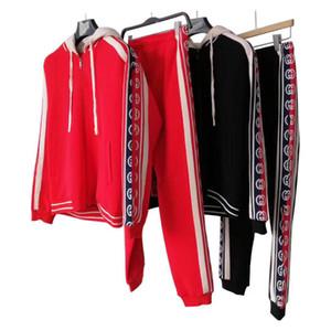 2019 Yeni Eşofman Ceketler Set Moda Koşu Eşofman Erkekler Spor Takım Elbise Mektup baskı Ince Uzun kollu Parça Kiti Medusa Spor
