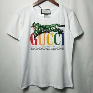 Womens Designer T-Shirt 2019 New Summer Luxus Kurzarm Fashion Casual Tee mit niedlichen Tier Pailletten Brief Muster S-XL.