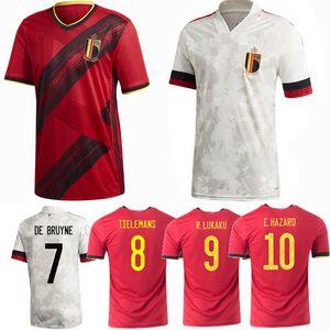 2020 2021 Бельгия футбольные майки E. HAZARD R. LUKAKU DE BRUYNE home away 20 21 мужчины женщины и дети футбольная рубашка 4XL