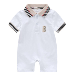 Neue Ankunft Jungen Babys Jumpsuits Neugeborene Kleidung Kleinkinder Art und Weise Kinder Strampler Kindershirt Sleeeve Säuglingsspielanzug