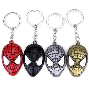 Superheld Spiderman-Maske Anhänger Schlüsselanhänger Zink-Legierung Spinnen-Mann-Metall Spider Man Schlüsselanhänger Schlüsselanhänger für Männer Frauen Weihnachtsgeschenk