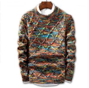 JIN JUE LES Sweater Men 2019 Brand fashion Pullover Sweater Male O-Neck stripe Slim Fit Knitting Mens Sweaters Man Pullover Men1