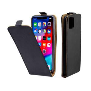 Para iPhone 11/11 Pro Negócios Couro Coque Vertical flip tampa com cartão de entalhe Mobile Phone sacos para iPhone 11 Pro Max