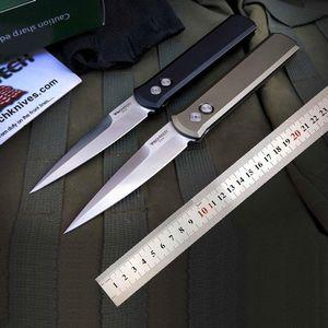 Protech o padrinho 920 auto faca facas de bolso faca floding auto caça defesa facas táticas punho CNC 6061-T6 Aviação Alumínio