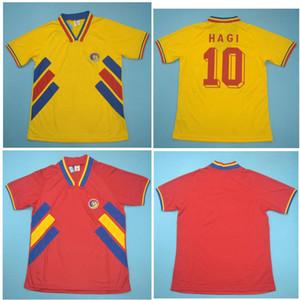 최고 1994 루마니아 레트로 축구 유니폼 축구 셔츠 RADUCIOIU 저지 싸리 클래식 타이츠 드 발을 CHIRICHES