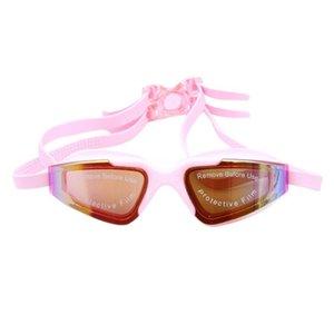 Плавание очки Женщины Мужчины Упругие силикона кадров высокого качества Профессиональные гонки плавать очки Googles PC объектива