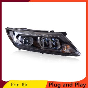 KOWELL Car Styling For Kia K5Headlights 2011-2014 New K5 Rio LED Headlight LED DRL Bi Xenon Lens High Beam Parking Fog Lamp