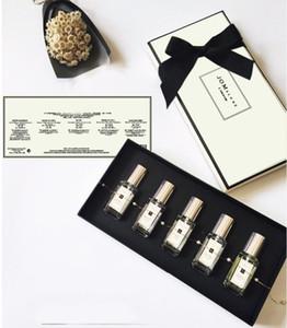 2019 Profesyonel Jo Malone Parfüm Koleksiyonu 5pcs / set 9ml * 5 adet Parfüm Seti Doğal Yüksek Kalite Ücretsiz kargo Sprey