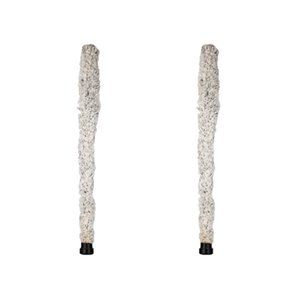 NAOMI 2PCS Alto Cotton Brush 화이트 클리너 알토 색소폰 용 목 관악기 색소폰 액세서리 악세서리 액세서리