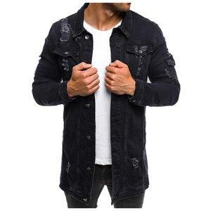 Mens Denim Jacket 2019 Casual Bomber Zipper Man Jacket Autumn Mens Jackets Coats Asian Size M-3XL