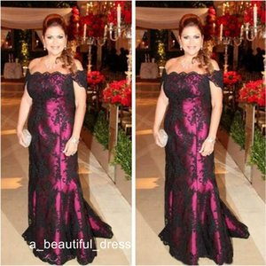 Elegante Off The Shoulder mãe da noiva Vestidos Black Lace Curto Evening Partido manga comprida Vestidos Wed Dress Convidados ED1191