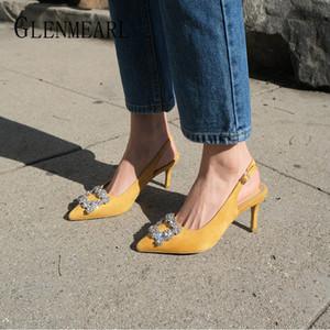 Kadınlar Yumuşak Deri Topuklar Ayakkabı Kadın Sivri Burun Kaymaz Artı Boyutu ggxSa Moda Bayan Rhinestone Yüksek Topuklar Ayakkabı