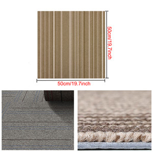 19,7 * 19.7inch DIY Tapete Quadrado Grande Home Office Seamless Spliceable Tapete Engenharia Comercial Hotel Corporate Tapete DH1186-2 T03