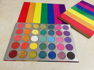 Pigmented 35 Color Rainbow Glitter Palettes Matte and Shimmer Eye shadow Palette Neon Cosmetics Makeup Eyeshadow Eye Shadow Make Up Palette