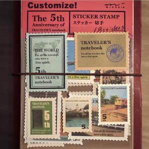 3 sacos / lote (54 peças) Viagem Retro Vintage clássico Selo Etiquetas bonitos scrapbooking Gimue papelaria jornal adesivo 6419