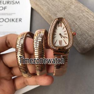 New Serpenti Tubogas 103002 SPP35BGDG.2T Roségold Diamant Lünette Silber Zifferblatt Schweizer Quarz Damenuhr Damenuhren Günstige Timezonewatch 14